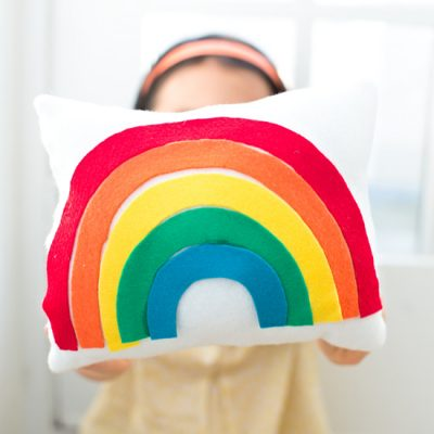 Rainbow Felt Pillow