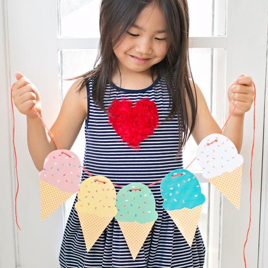 Printable Ice Cream Garland