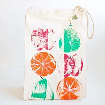Fruit Stamped Lunch Bag