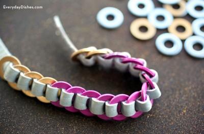 Leather Washer Bracelet