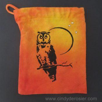 Moonlit Owl Canvas Bag