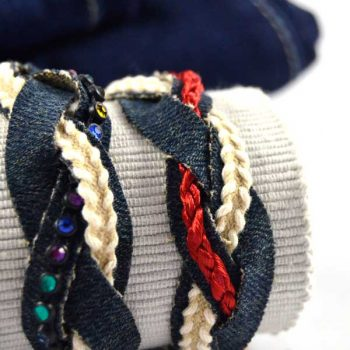 Recycled Denim Bracelet