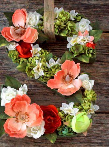 Floral Letter Wreath