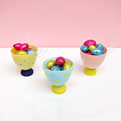 Plastic Egg Tea Cups