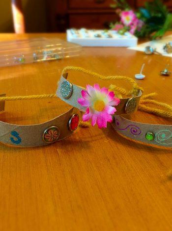 Cardboard Tube Toddler Bracelet
