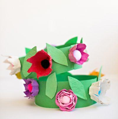 Egg Carton Flower Crown
