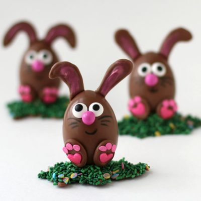 Chocolate Easter Egg Bunnies