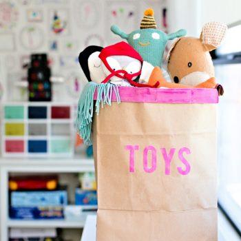 Recycled Toy Storage Bin