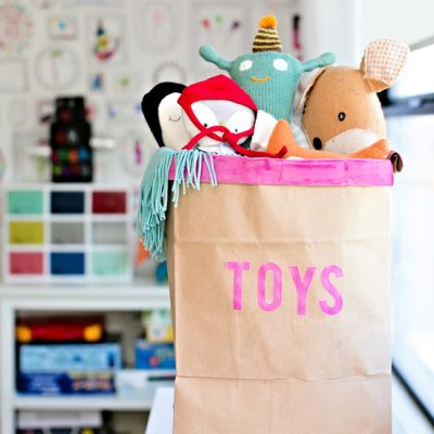 Recycled Toy Storage Bin