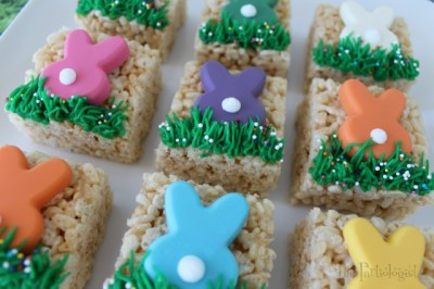 Bunny-Topped Rice Krispie Treats