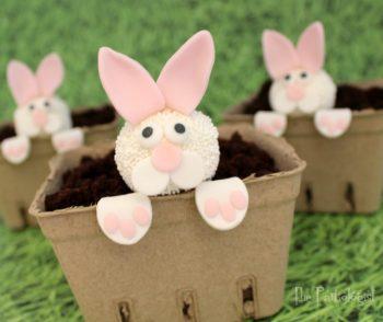 Peeking Bunny Easter Cakes