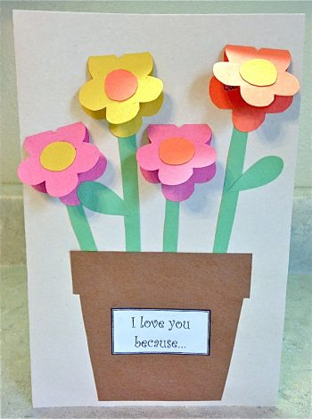Mother's Day Construction Paper Vase