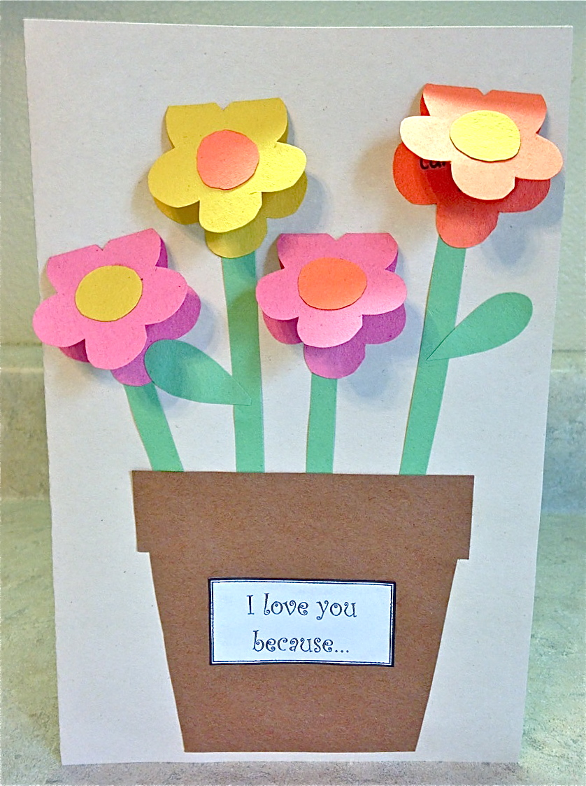 Mother 39 s day construction paper vase fun family crafts for Spring craft shows near me