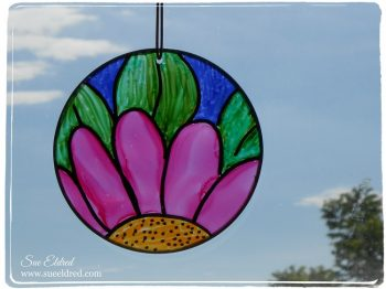 Alcohol Ink Sun Catcher