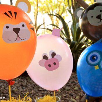 Printable Animal Balloon Decals