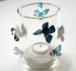Aluminum Can Butterfly Candle