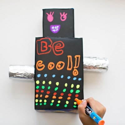 Cardboard Chalk Robot