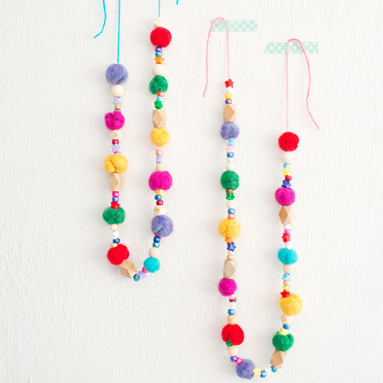 Felted Ball Garland