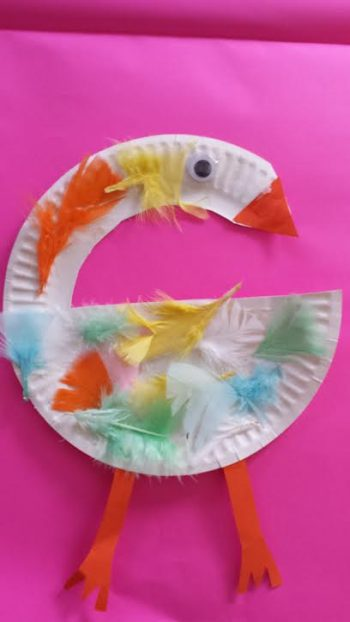 Paper Plate Swan
