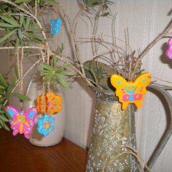 Springtime Clay Ornaments