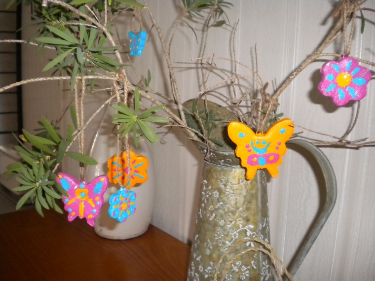 Springtime Clay Ornaments