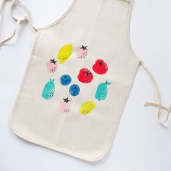 Potato Stamp Apron