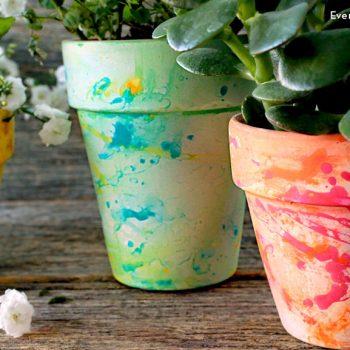 Splatter Paint Pots