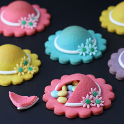 Ladies Hat Pinata Cookies
