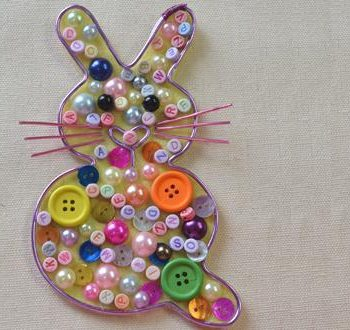 Beads and Buttons Wire Rabbit