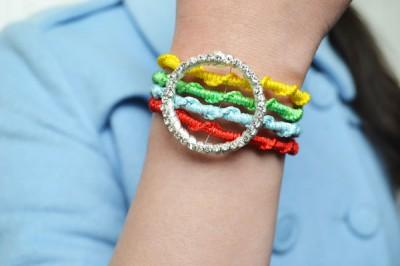Four-Strand Woven Bracelet