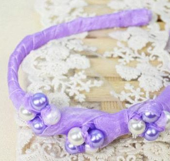Beaded Ribbon Headband