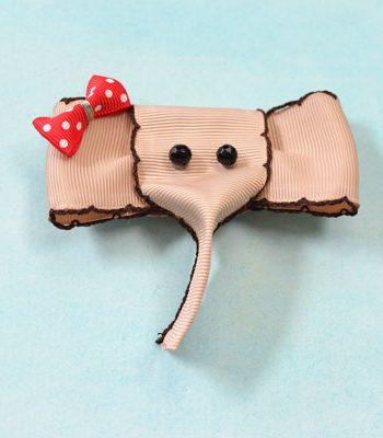 Elephant Ribbon Brooch