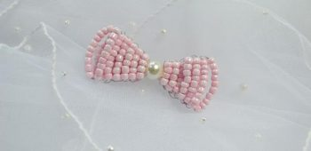 Beaded Hair Bow