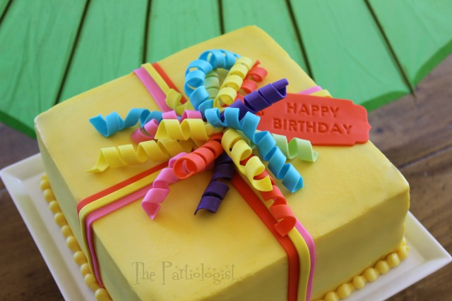 Edible Curling Ribbon Birthday Cake Fun Family Crafts