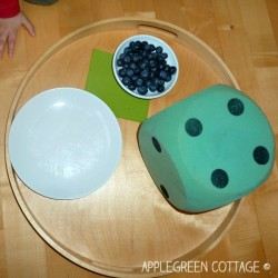 Counting Game with Dice and Blueberries