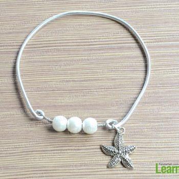 Easy Pearl Bangle Bracelet