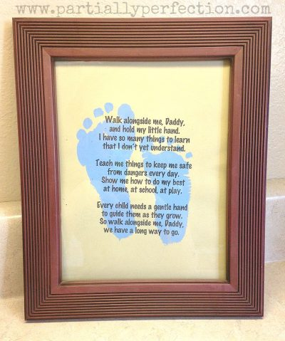 Father's Day Footprint Craft