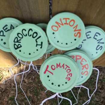 Jar Lid Garden Labels