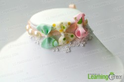 Ribbon Bow and Pearl Bracelet