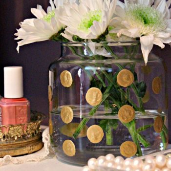 Gold Polka Dot Vase