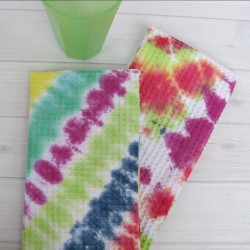 Tie-Dyed Dish Towels