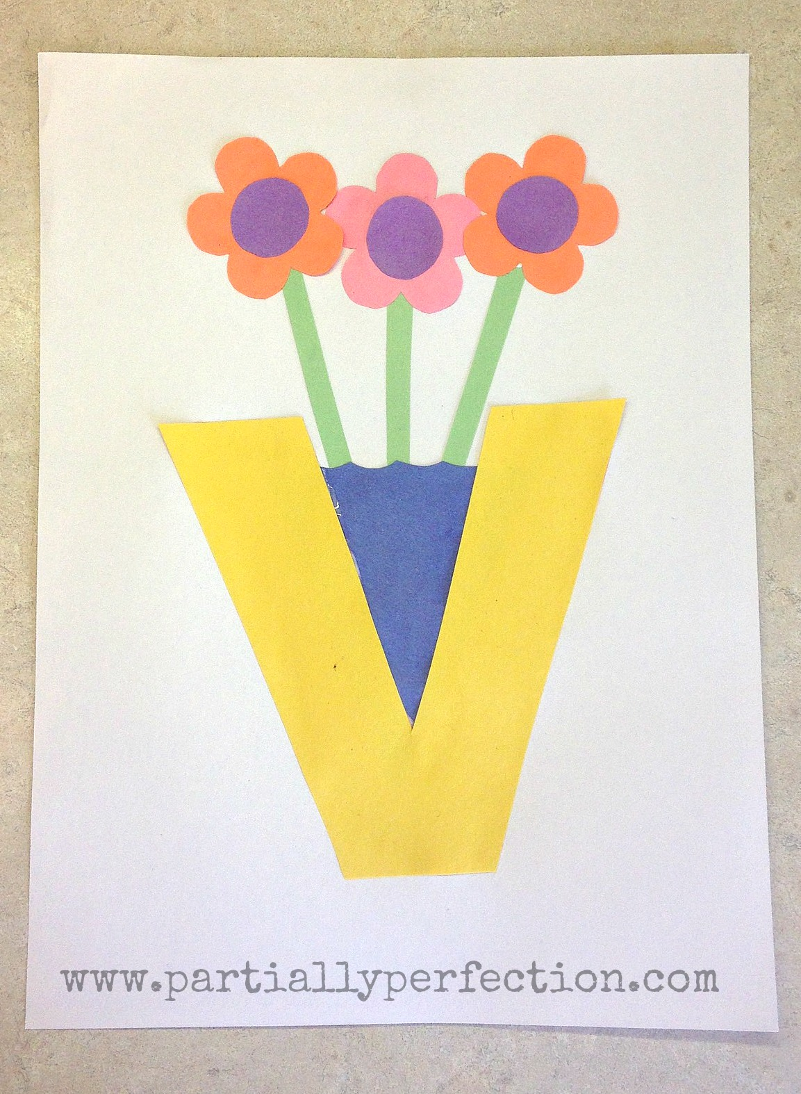 letter v craft v is for vase family crafts 23287