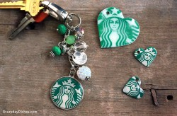 Coffee Shop Keychain