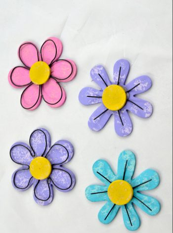 Wood and Wire Flowers