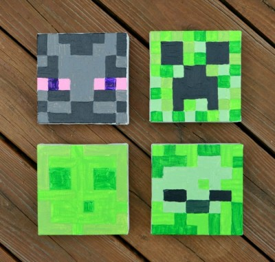 Minecraft Canvas Paintings Fun Family Crafts