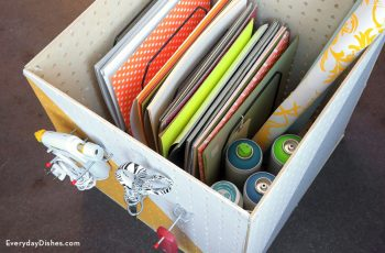 Craft Peg Board Box