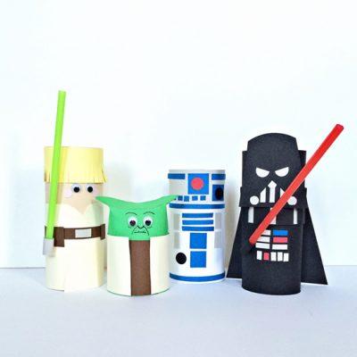 Cardboard Tube Star Wars Characters