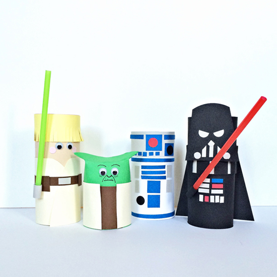 Cardboard tube star wars characters fun family crafts for Where to buy cardboard tubes for craft