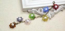 Beaded Flower Charm Bracelet