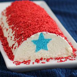 4th of July Ice Cream Roll